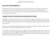 Bordex Delivery Installation Instructions