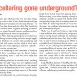 Macphees - has cellaring gone underground