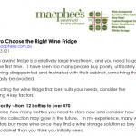How to choose right wine fridge