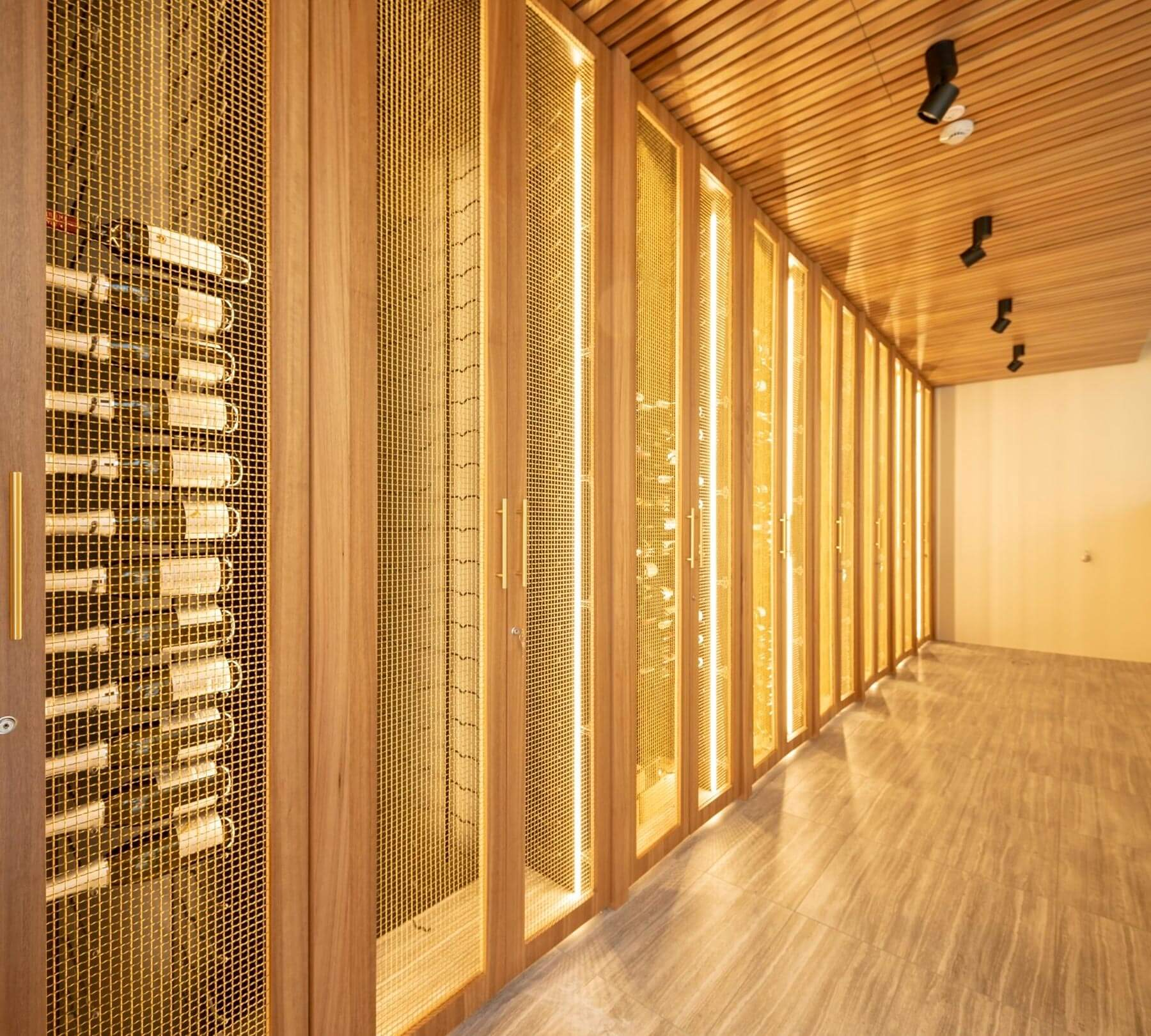 MacPhees climate controlled wine room