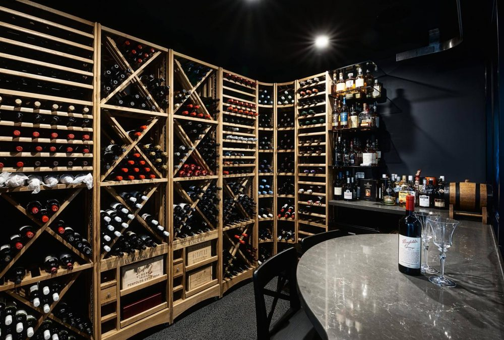 MacPhees climate contolled wine cellar