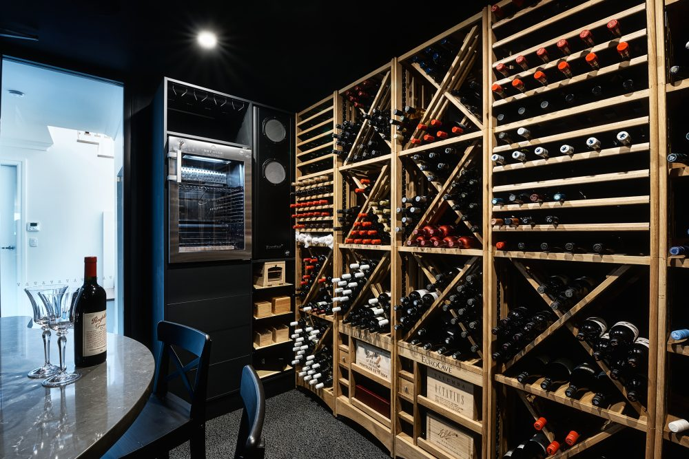 MacPhees climate controlled wine cellar