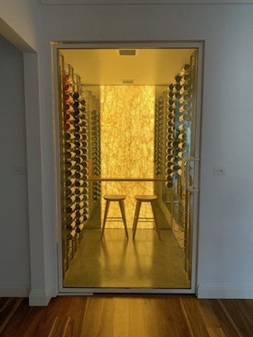 Macphees climate controlled wine cellar - Wine Guardian system