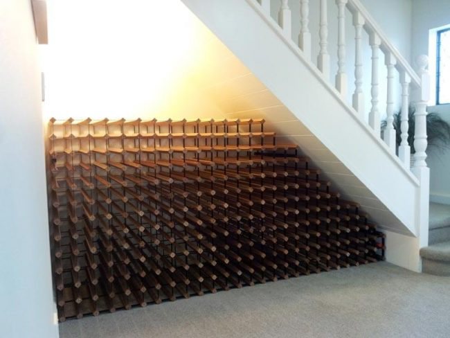 Bordex Wine Racking Under Stairs