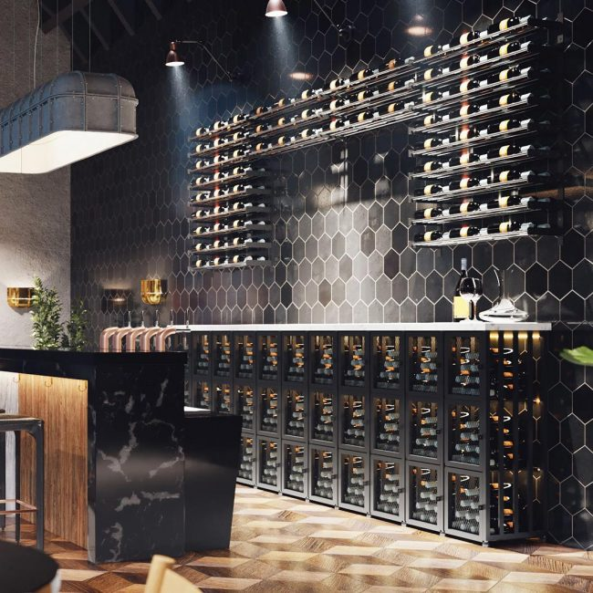 Evolution Wine Wall Racking