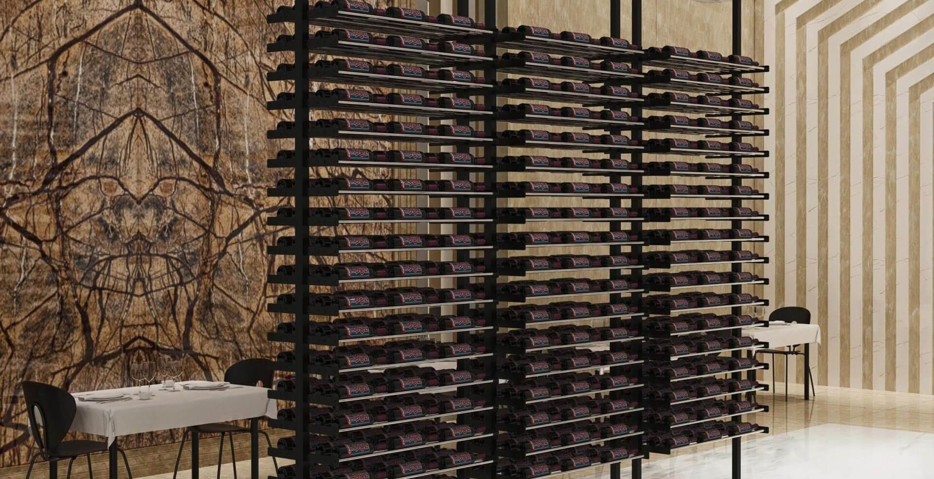 Evolution Floor to Ceiling Wine Racking