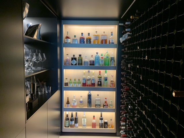 Bordex Stained Wine Racking Ballast Point and Andrew Burges Architect