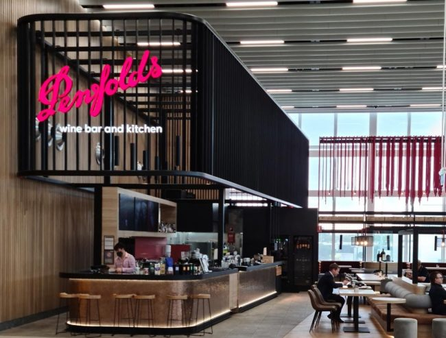 Penfolds wine bar at Adelaide airport